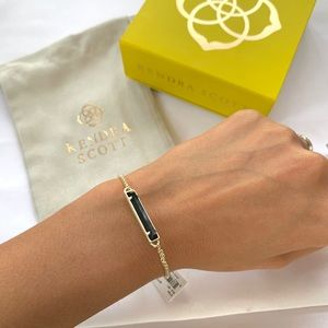 NWT Kendra Scott 14k gold mother pearl bracelet
